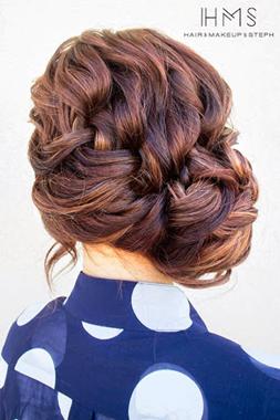 peinados para cabello rizado suelto