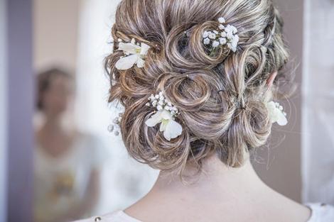 peinados rizado para boda