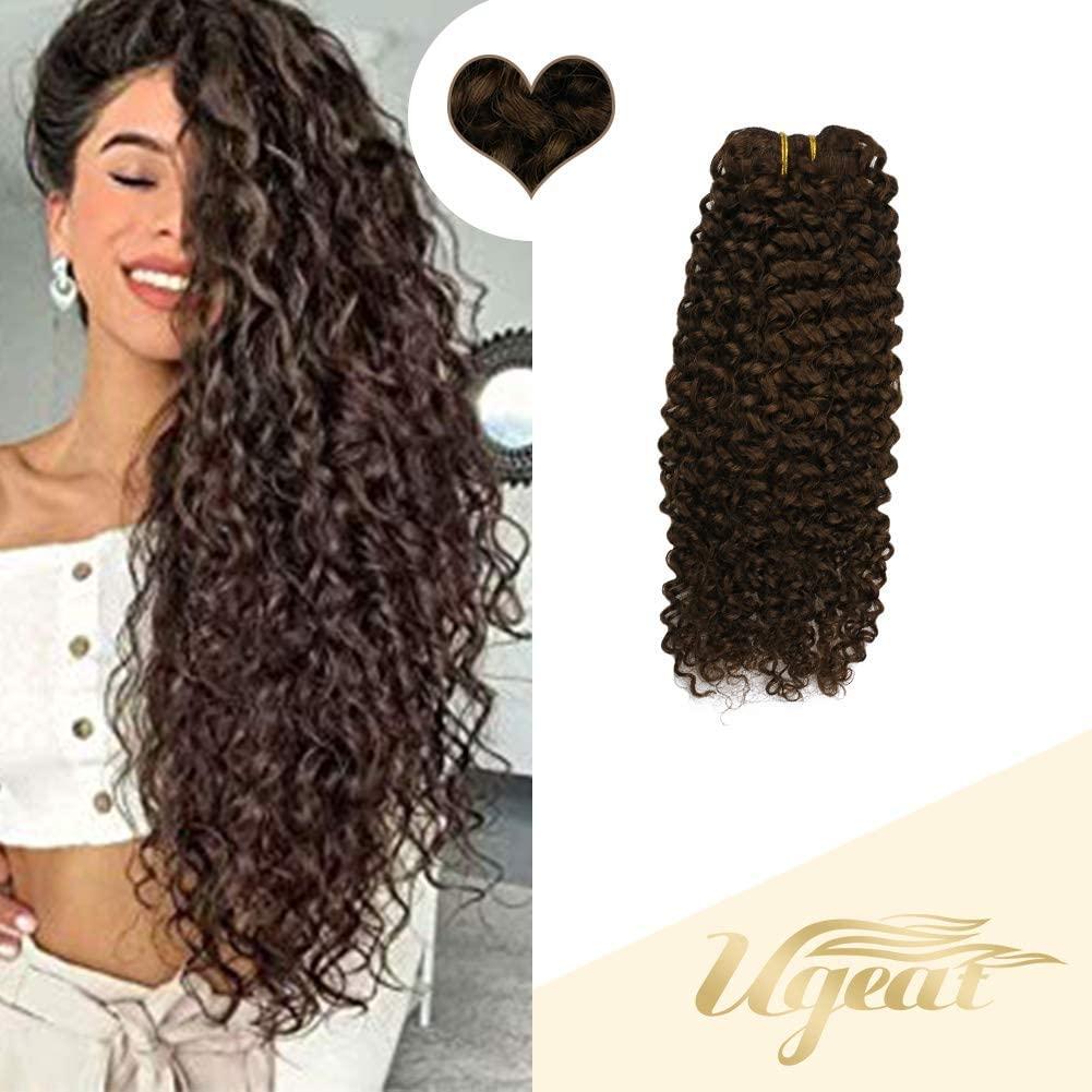 Dark Brown Full Head Human Hair Extensions