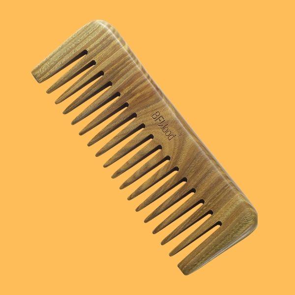 cepillo de madera para cabello rizado
